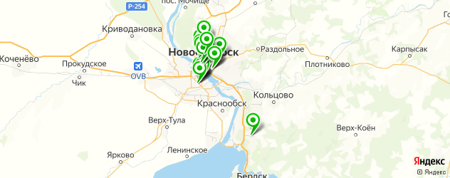 курсы на карте Новосибирска
