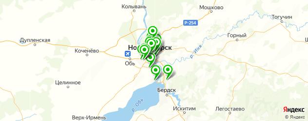 сервисные центры на карте Новосибирска