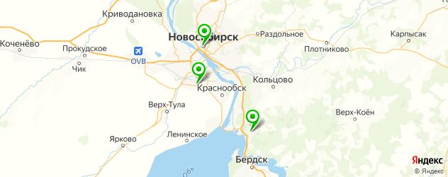 куры гриль на карте Новосибирска