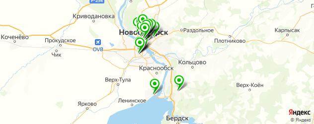 бары с танцполом на карте Новосибирска
