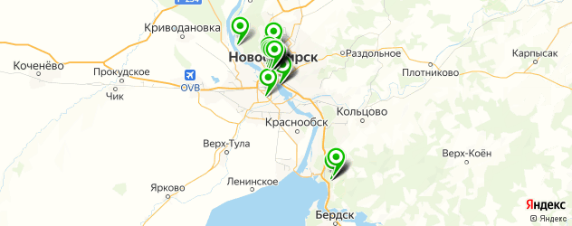 летняя веранда на карте Новосибирска