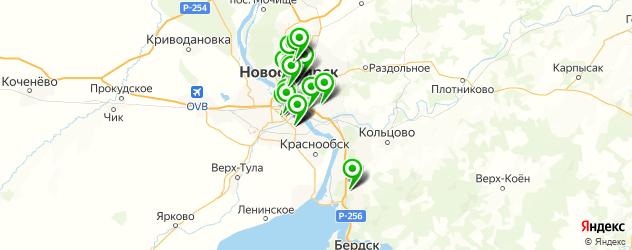 пиццерии на карте Новосибирска