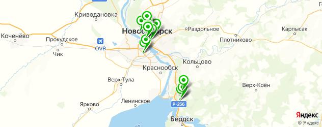 бары на карте Новосибирска