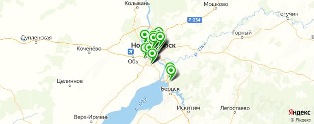 тренажерные залы на карте Новосибирска