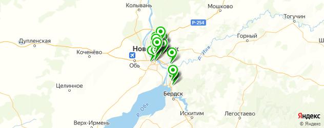 салоны бровей на карте Новосибирска
