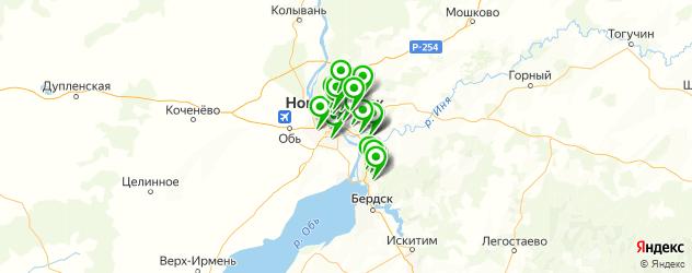 детские клубы на карте Новосибирска