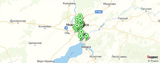 бронирование стекол автомобиля пленкой на карте Новосибирска