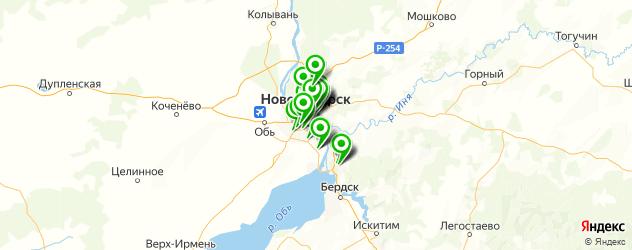тонировка автомобиля на карте Новосибирска