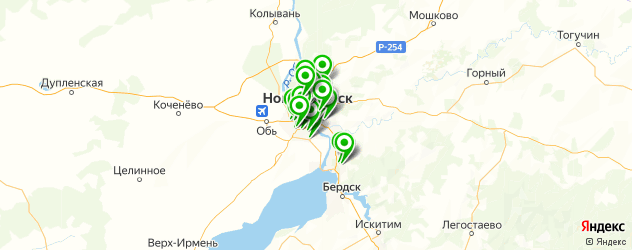 ремонт автокондиционеров на карте Новосибирска