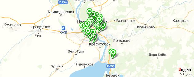 заправка кондиционеров автомобиля на карте Новосибирска