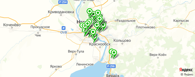 диагностика автокондиционеров на карте Новосибирска