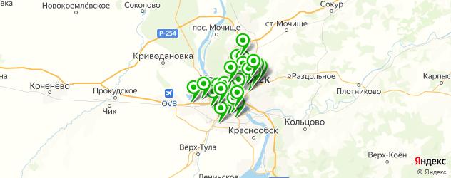 тюнинг обвеса на карте Новосибирска