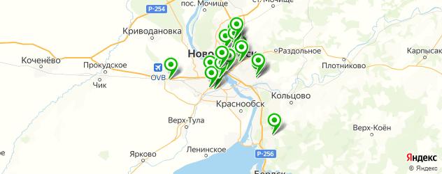 установка автокондиционеров на карте Новосибирска