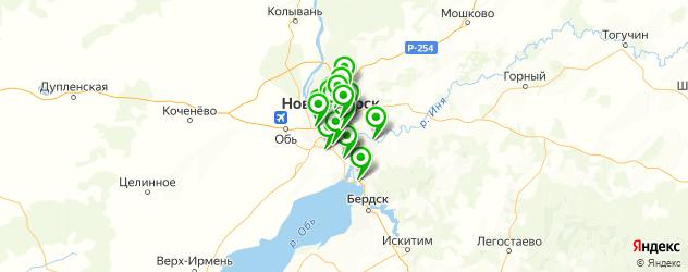 автоуслуги на карте Новосибирска