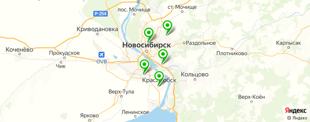 ремонт мотоциклов на карте Новосибирска