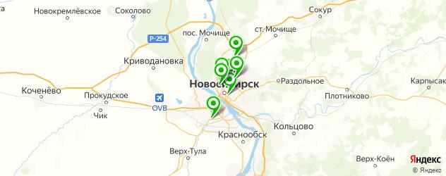 бронирование фар на карте Новосибирска