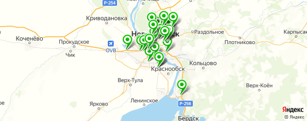 полировка фар на карте Новосибирска