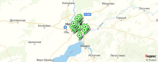 эвакуаторы на карте Новосибирска