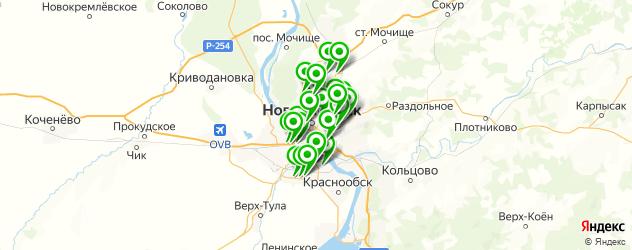 пошив авточехлов на заказ на карте Новосибирска