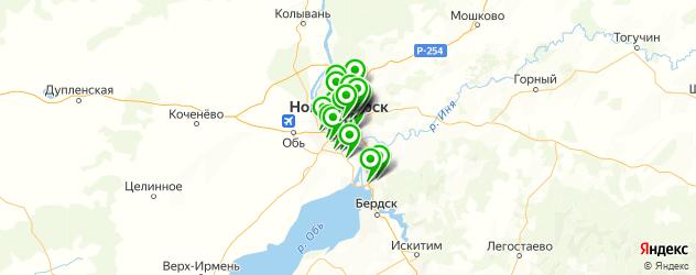 ремонт глушителей на карте Новосибирска