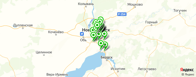 автостекла на карте Новосибирска