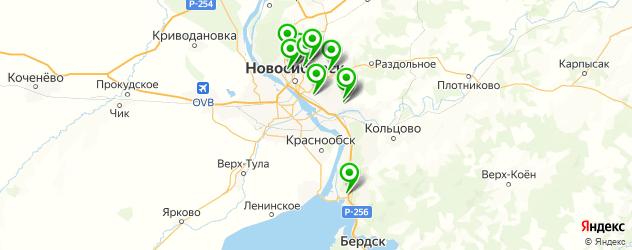 ремонт запотевания фар на карте Новосибирска