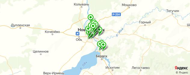 сервисы Опель на карте Новосибирска