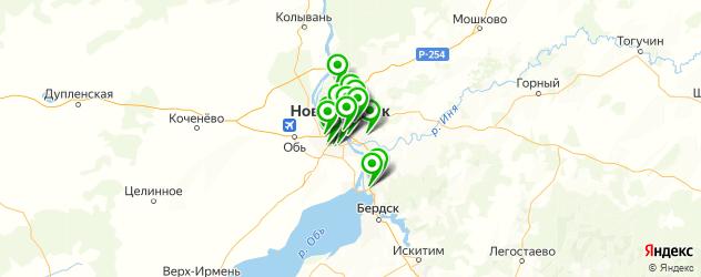 сервисы Вольво на карте Новосибирска