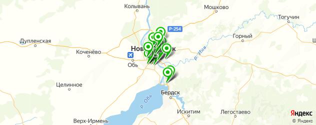 сервисы Киа на карте Новосибирска