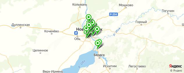 сервисы Хонда на карте Новосибирска
