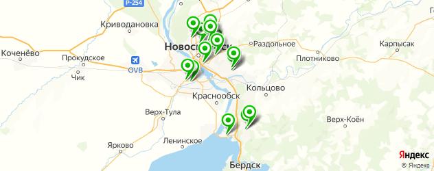 ремонт шлангов автокондиционера на карте Новосибирска
