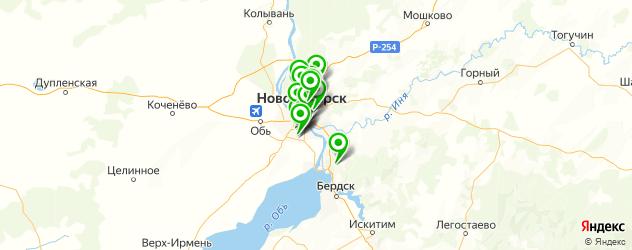 ремонт катализаторов на карте Новосибирска