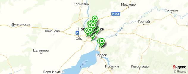 лаборатории анализов на карте Новосибирска