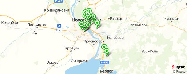 школы изучения иностранных языков на карте Новосибирска