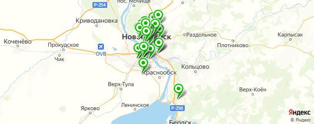 реабилитационные центры на карте Новосибирска