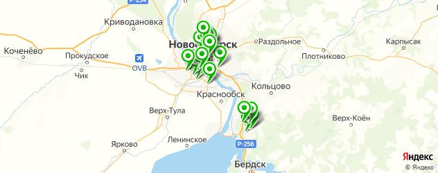 медицинские центры на карте Новосибирска