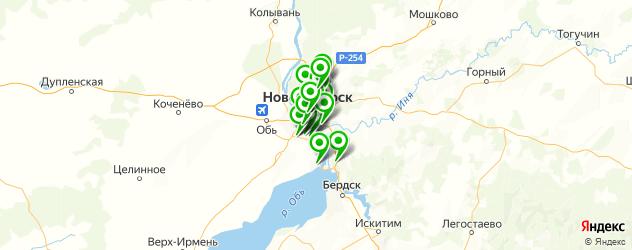 автострахование на карте Новосибирска