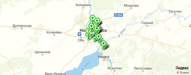продажа новых грузовиков на карте Новосибирска