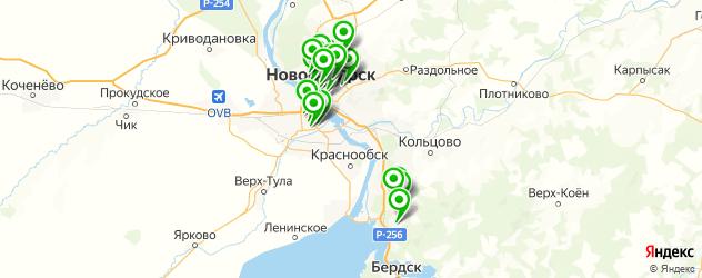 салоны оптики на карте Новосибирска