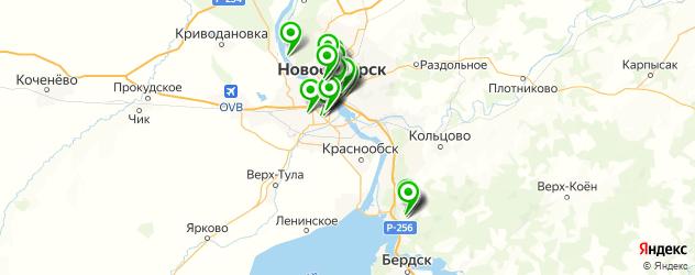 центры косметологии на карте Новосибирска