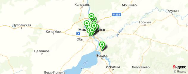 йога-центры на карте Новосибирска