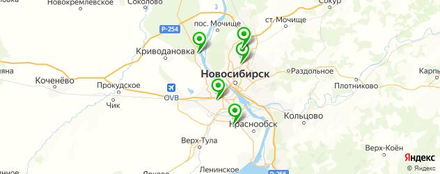 ледовые дворцы на карте Новосибирска