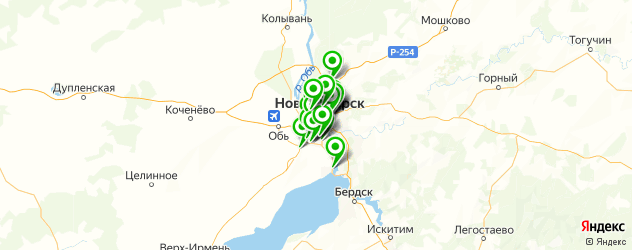 автозапчасти оптом на карте Новосибирска