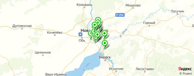 где купить лотерейные билеты на карте Новосибирска