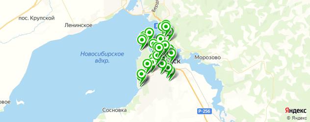бани на карте Бердска