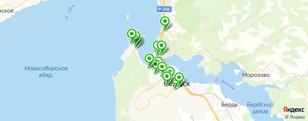 рестораны на карте Бердска