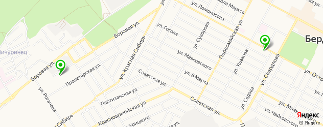 йога-центры на карте Бердска