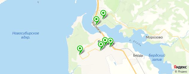 бары с танцполом на карте Бердска