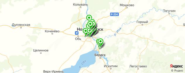 больницы на карте Новосибирска