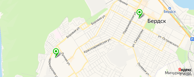 детские поликлиники на карте Бердска